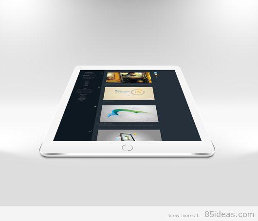 iPad Air 2 Mockup flat