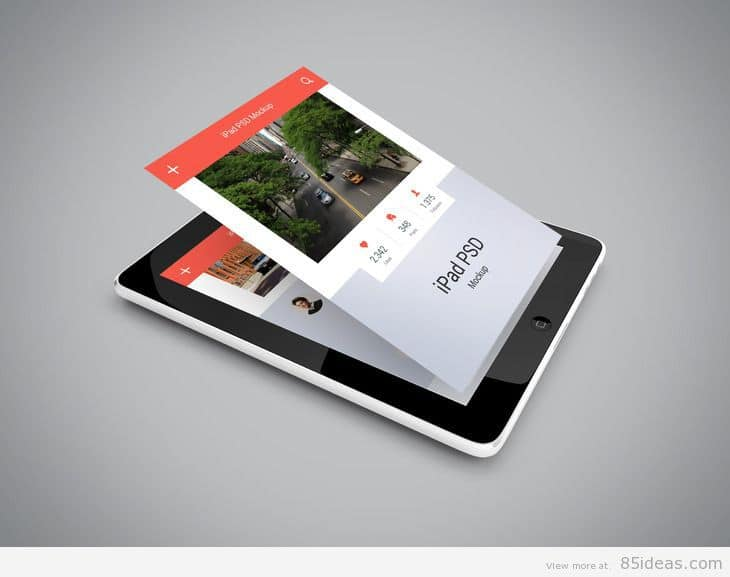 iPad PSD Mockup for app