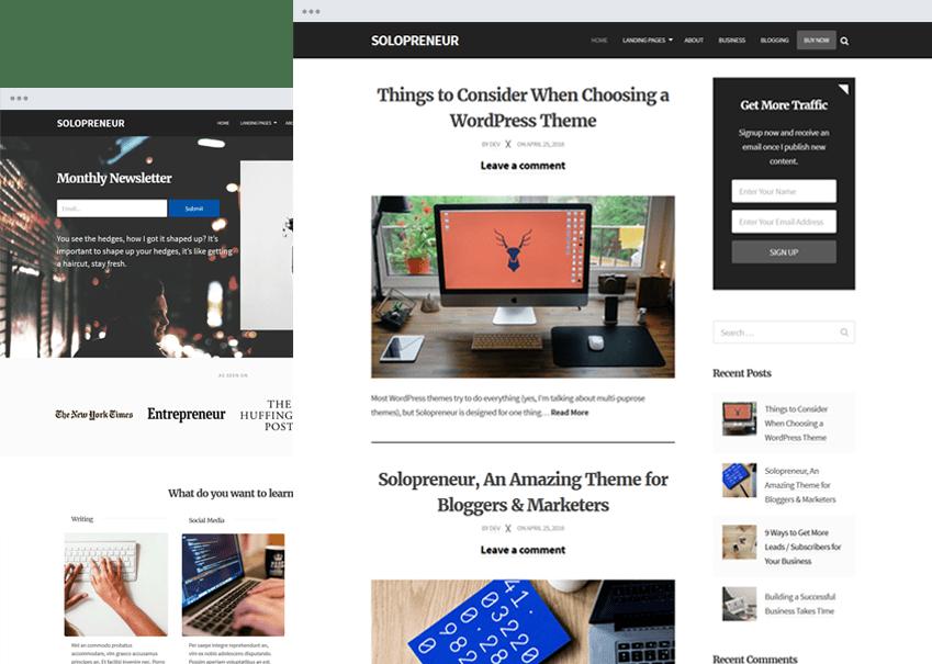 solopreneir WordPress theme
