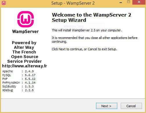 2-Wamp-Installation-Start