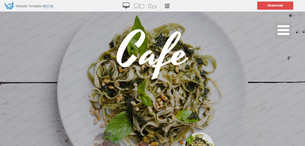 Cafe Free Website Template