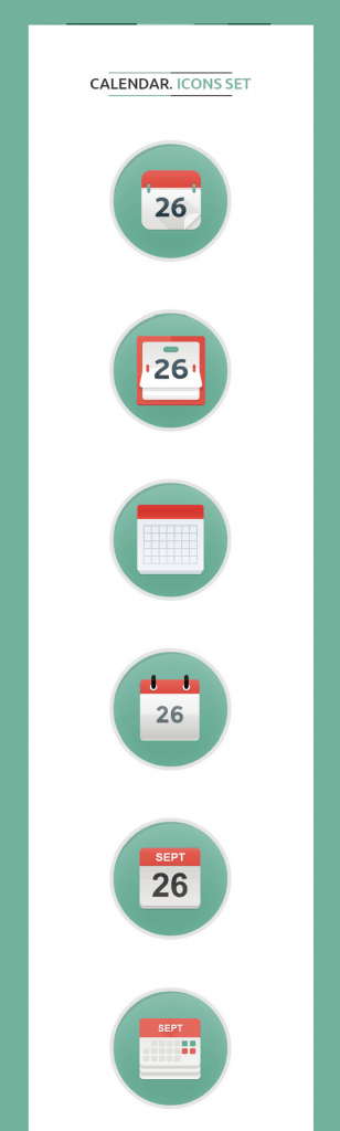 Calendar Icons Set Freebies