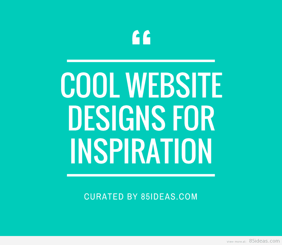 24+ Cool Website Designs For Inspiration
