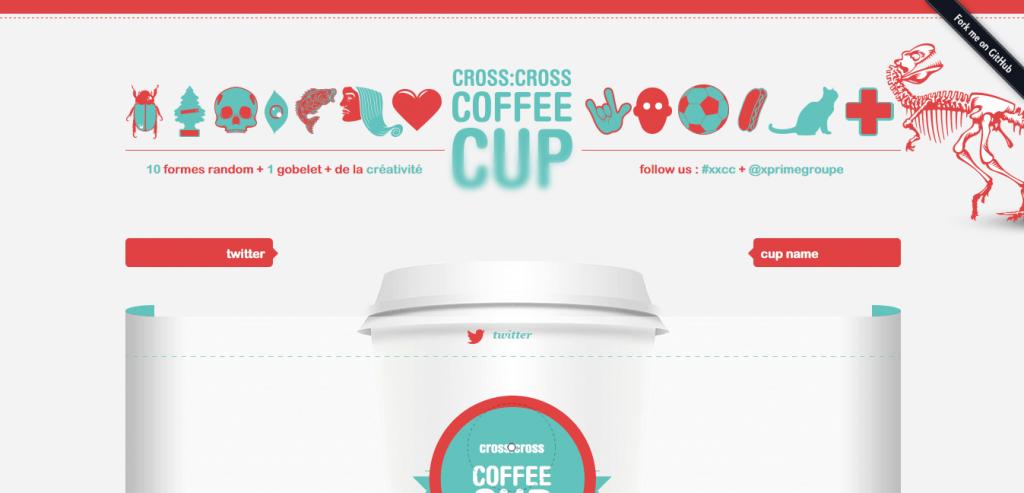 Cross Cross Coffee Cup design