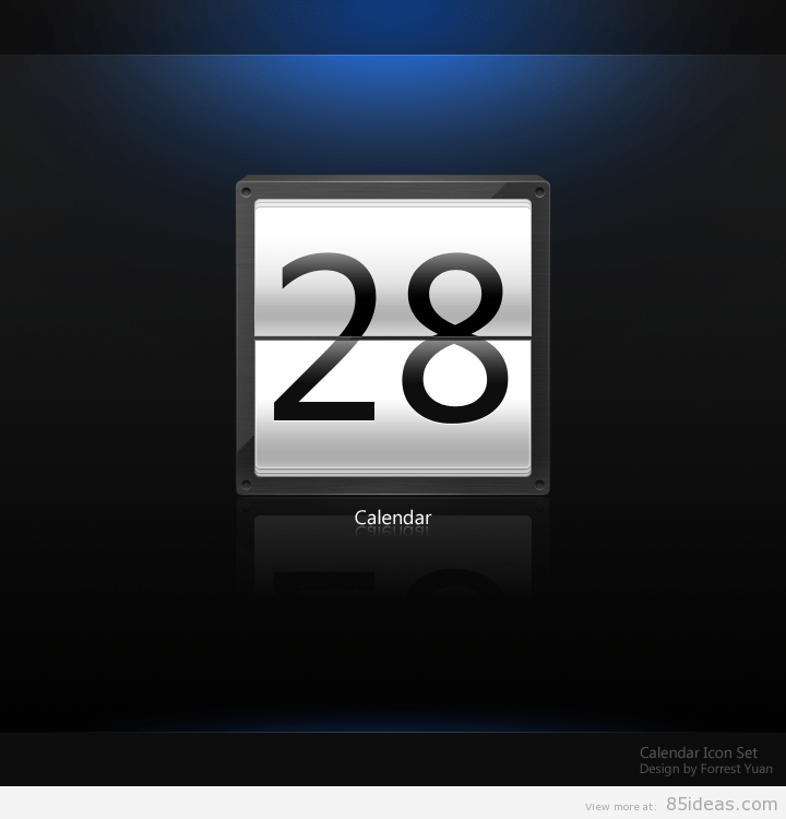 Dark Calendar icon