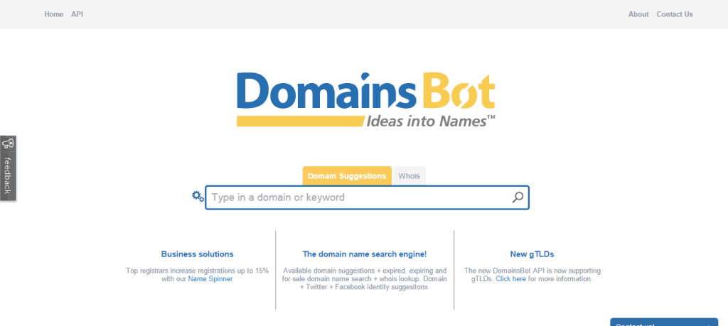 Domain Suggestions DomainsBot