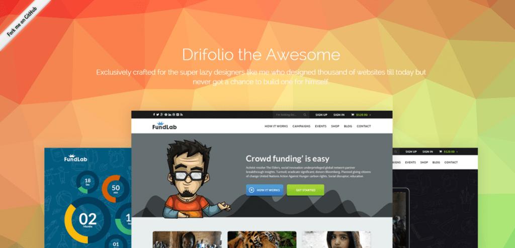 Drifolio Bootstrap Template
