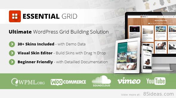 Essential Grid WordPress Plugin - WordPress WYSIWYG Editors