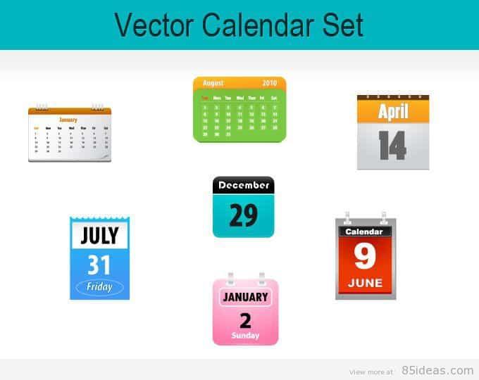 Free Vector Calendar Icons