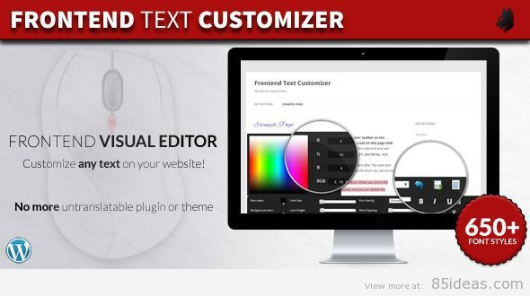 Frontend Text Customizer