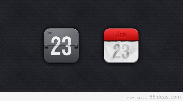 Glass_calendar_icons