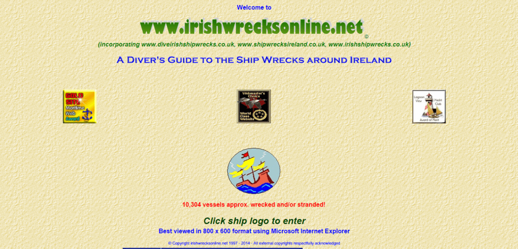 Irish bad webdesign