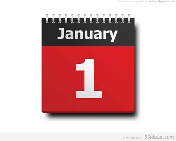 January calendar icon