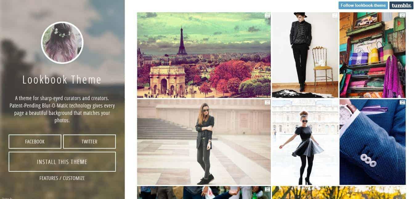 Lookbook Tumblr Theme