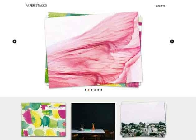 Paper Stacks Tumblr Theme