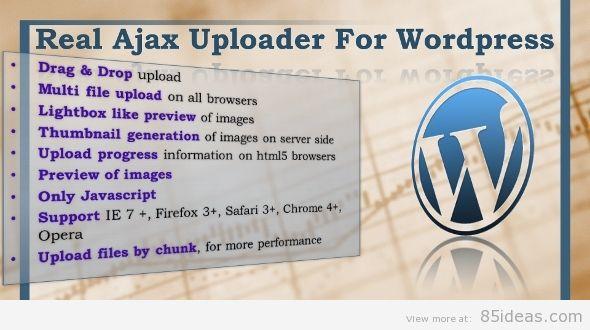 Real Ajax Uploader for WordPress