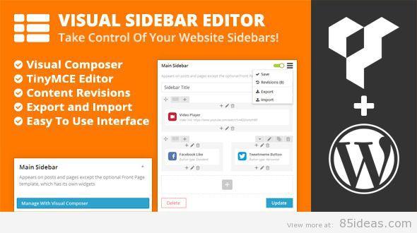 Visual Sidebar Editor for WordPress page builder