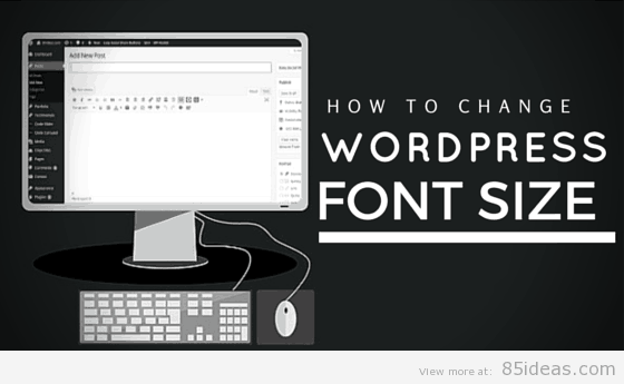 How to change WordPress font size