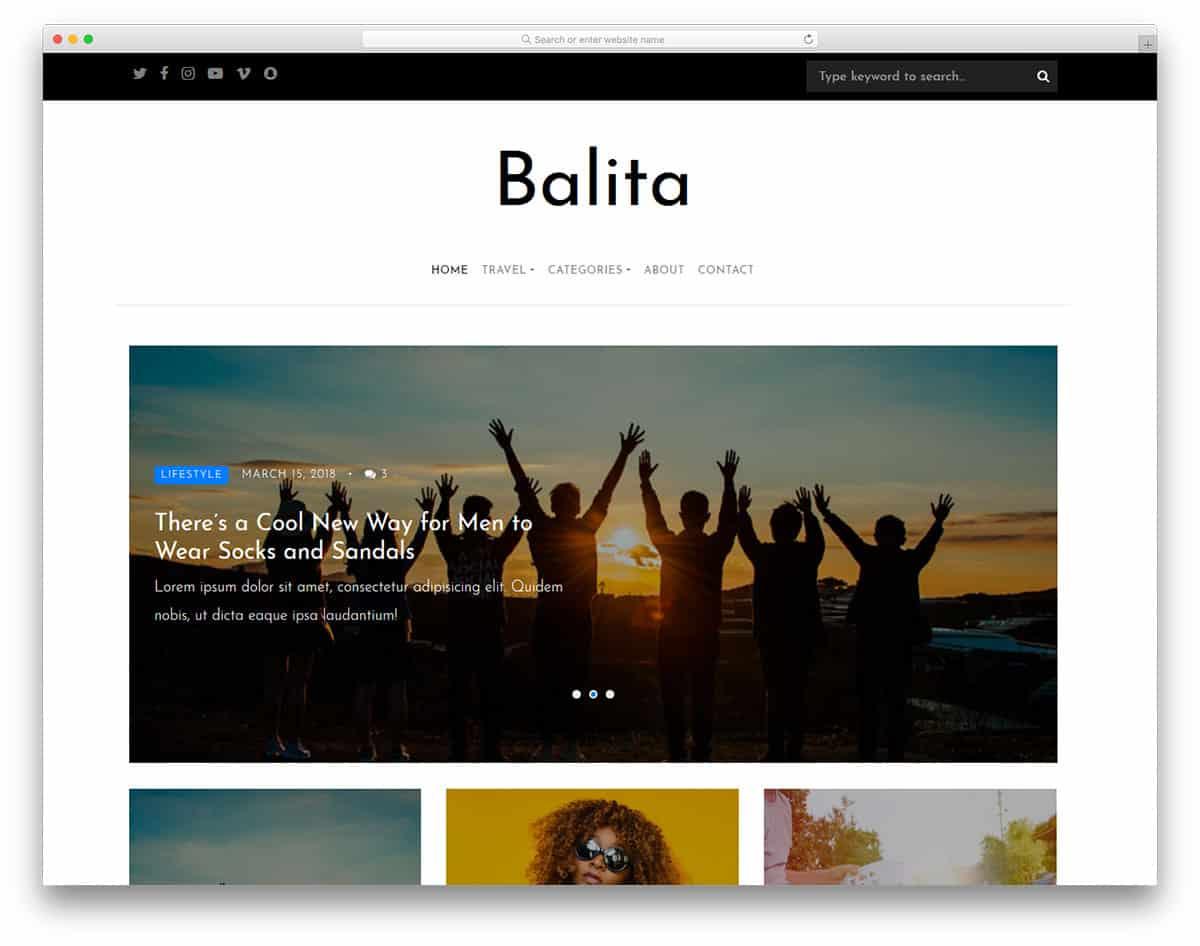 balita-free-template