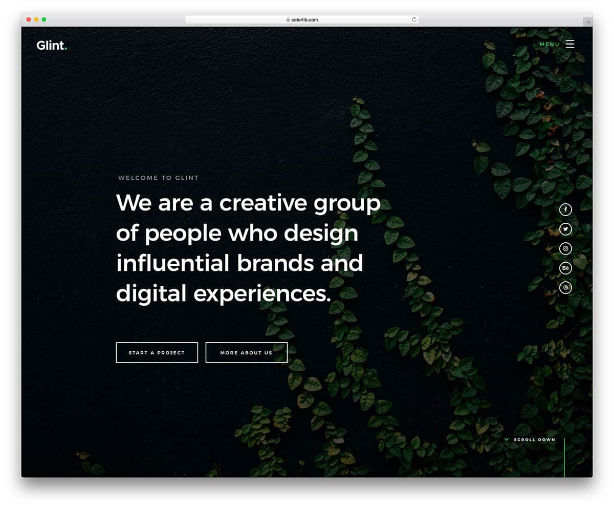 glint-free-fullscreen-small-business-template