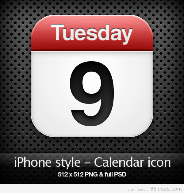 iPhone style Calendar icon