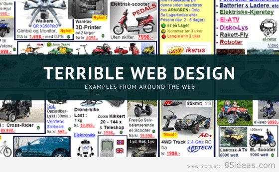 8 examples of bad web design in 2018