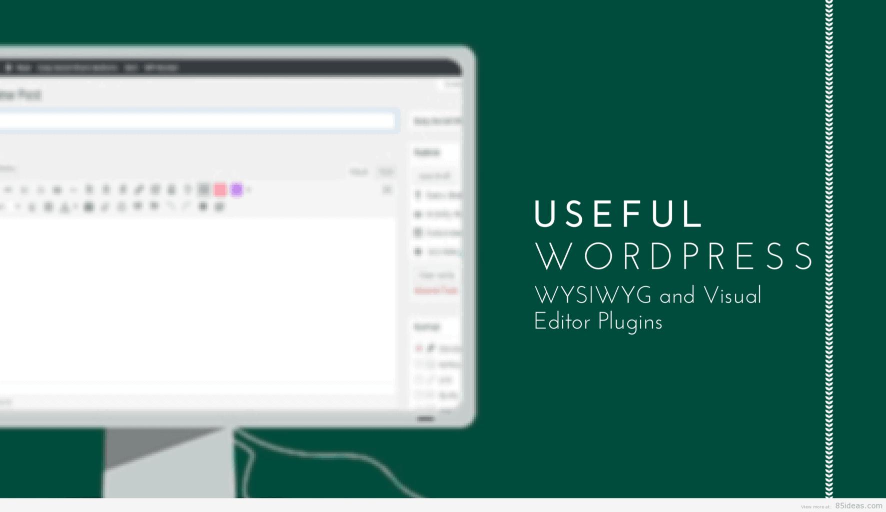 4 Useful WordPress WYSIWYG editor