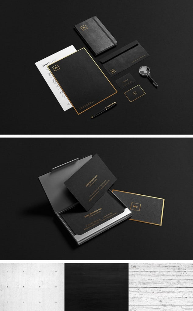 Black Gold Stationary Mock-Up