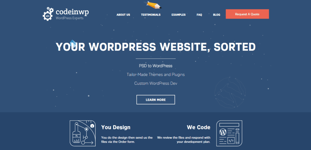 CodeinWP PSD to WordPress