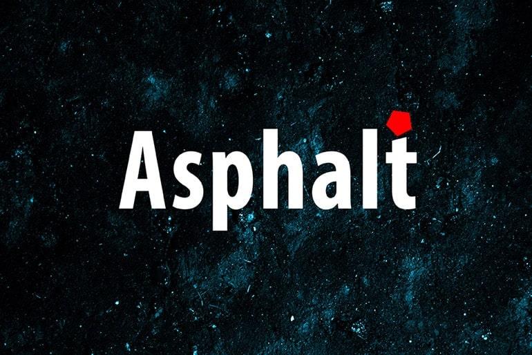 Colorized asphalt textures for artwork