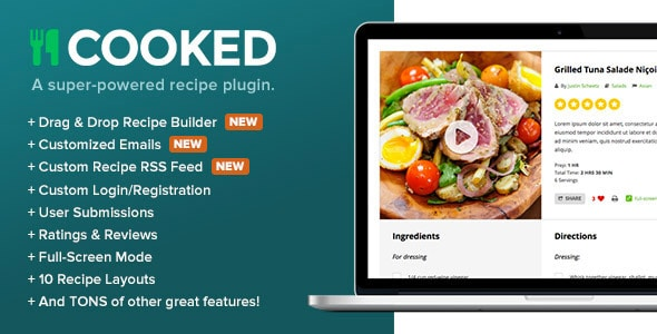 Cooked Powered Recipe Plugin
