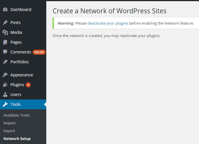 Create a Network of WordPress Site