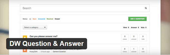 DW Question Answer WordPress Plugin