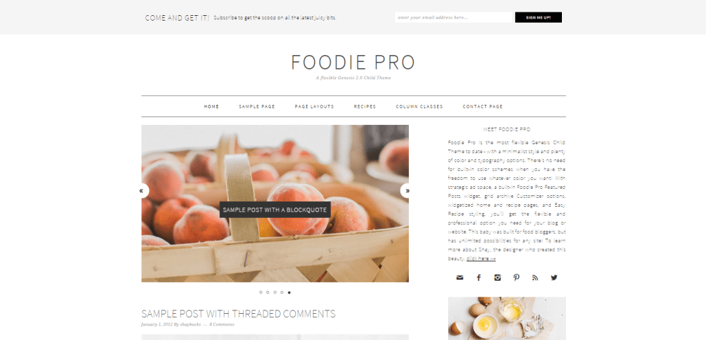 Foodie Pro Genesis Child Theme
