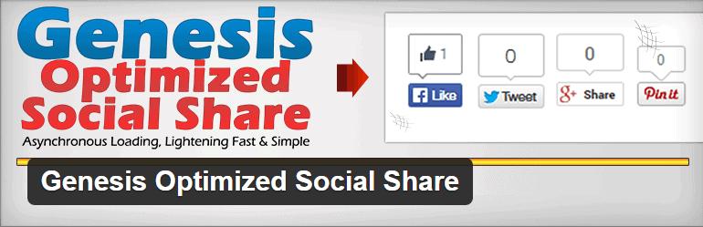 Genesis Optimized Social Share Plugin