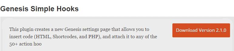 Genesis Simple Hooks WordPress Plugin