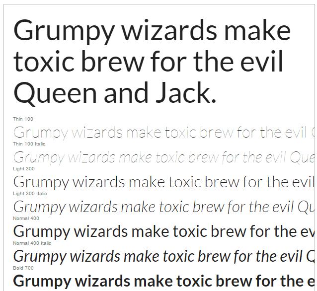 Google Fonts Lato