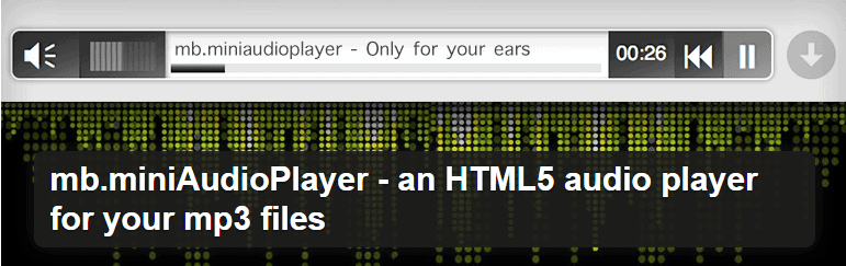 HTML5 audio player for your mp3 files