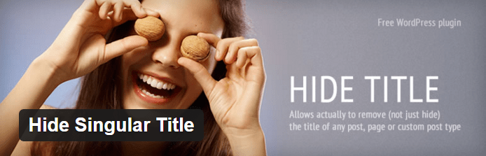 Hide Singular Title WordPress Plugin
