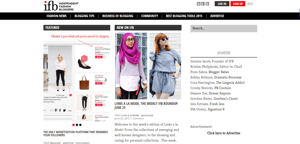Independent Fashion Bloggers BuddyPress