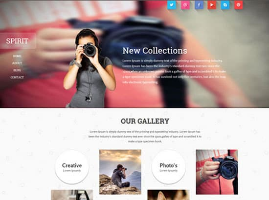 Free HTML Photography Website Templates For Ideascom - Free photography website templates