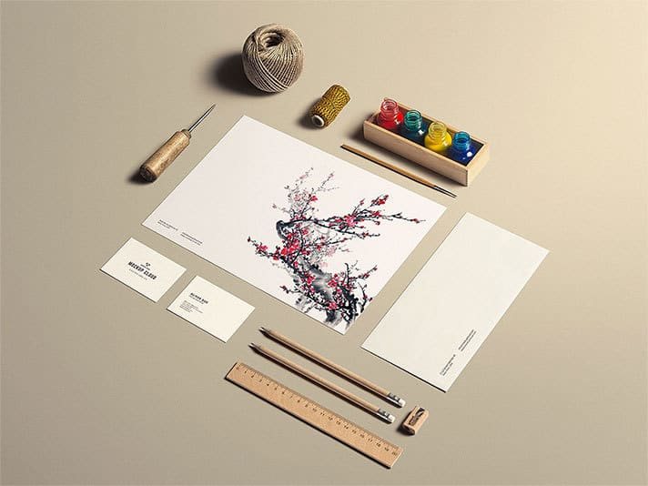 Stationery Mock-Up Art Craft