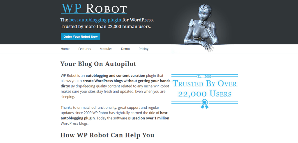 WP Robot Autoblogging Plugin