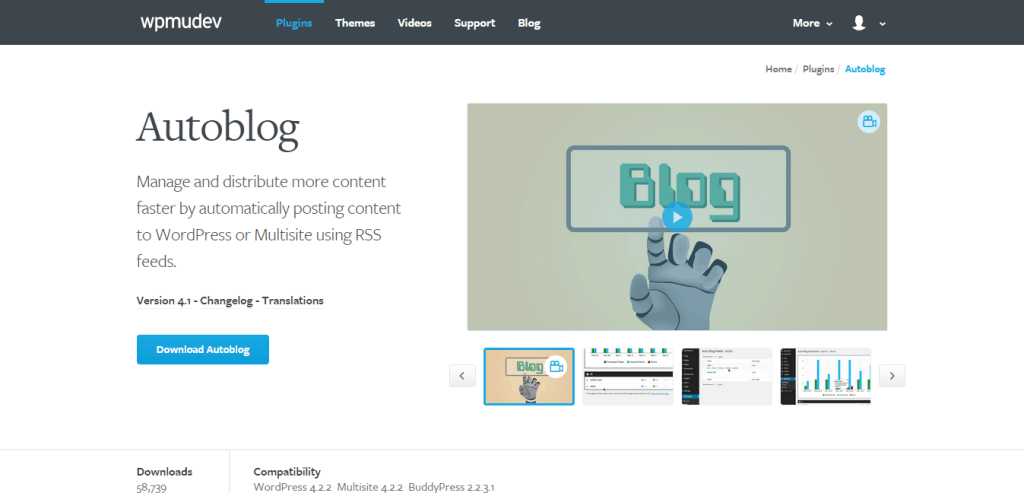WordPress Autoblog Plugin WPMU DEV
