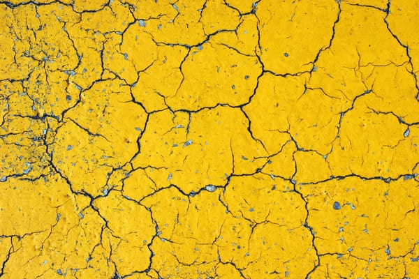 Yellow Asphalt with Cracks