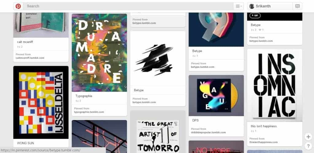 Andrew Oyl Miller Typography Pinterest Board