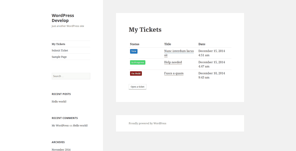 Awesome Support WordPress Ticket Support plugin