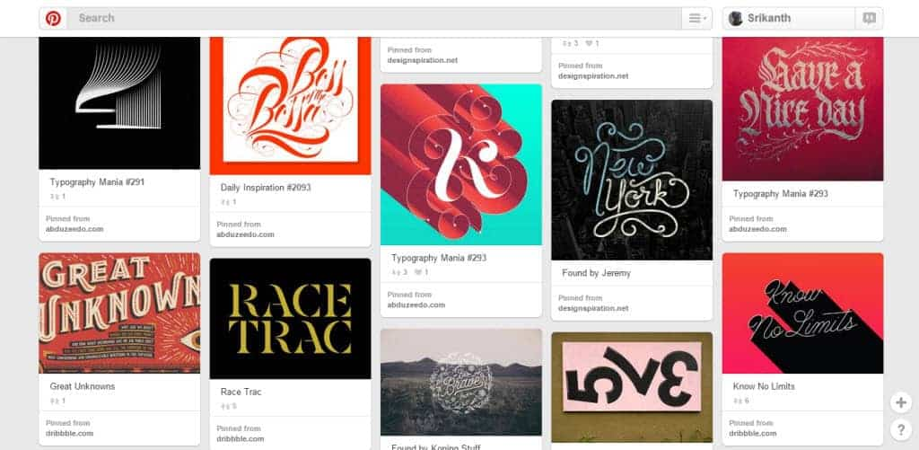 Christian Antolin Typography Pinterest Board