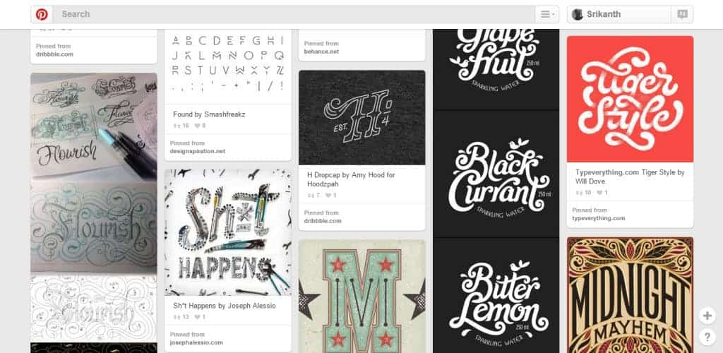 Courtney Blair Typography Pinterest Board
