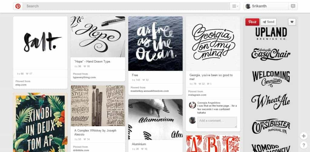 Daniel Bear Hunley Typography Pinterest Board